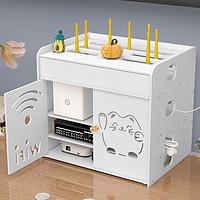路由器电线收纳盒光猫壁挂式墙上免打孔桌面无线wifi机顶盒置物架