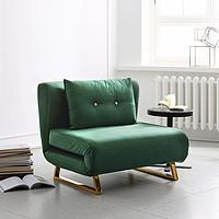 顾全单人沙发床卧室书房多功能简易可折叠伸缩床两用客厅懒人沙发