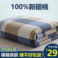 夏被空调被夏季100%纯棉被芯水洗棉夏凉被单人双人春秋棉花薄被子