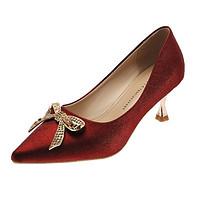 高跟鞋女2021年新款婚鞋新娘鞋水钻蝴蝶结细跟女鞋子法式小跟单鞋