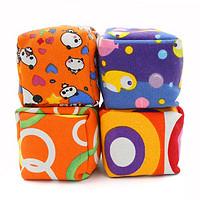 奇享橙儿童沙包7cm立体袋帆布丢沙包幼儿园小学投掷游戏玩具4个装