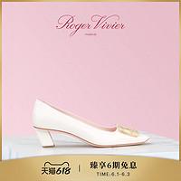 RogerVivier女鞋BelleVivier珍珠母饰扣高跟鞋粗跟方头单鞋