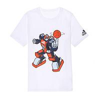 男大童款透气排汗卡通机器人印图短袖T恤