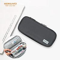 日本国誉(KOKUYO)学生大容量直立式竖款笔袋文具盒收纳袋NOViTA-R中号210*93*30(+40)mm深灰WSG-PC122-DM
