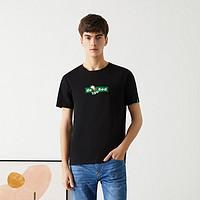 海一家趣味印花短T2021夏季新品卡通舒适打底短袖T恤男