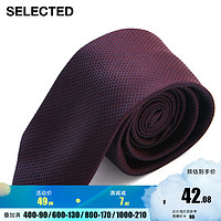 SELECTED思莱德新品含桑蚕丝提花男士商务休闲领带A 42111T006