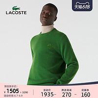 LACOSTE法国鳄鱼男装春夏时尚休闲圆领保暖针织羊绒衫男 AH2074