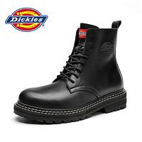 Dickies男士靴子夏季薄款高帮工装靴复古英伦风真皮透气机车靴潮