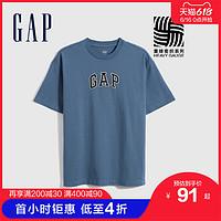 【重磅密织】Gap男装LOGO纯棉硬短袖T恤697707夏季2021新款上衣