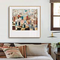 鳟鱼斯皮罗斯小众艺术装饰画客厅画餐厅正方形风景挂画卧室壁画