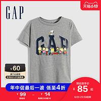 【史努比联名】Gap女童纯棉T恤7701622021夏季新款童装短袖上衣