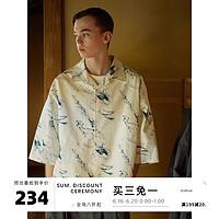 EviStub21SSAloha夏威夷漫花复古日系宽松Cityboy翻领短袖衬衫
