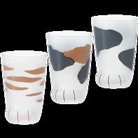 ADERIA日本石塚硝子猫爪杯果汁杯创意牛奶玻璃杯猫咪杯生日礼物