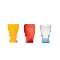 奥地利原产KisslingerKristall手工吹制挤压杯水晶玻璃水杯红色