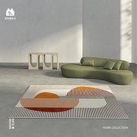 【青山美宿】原创设计artdeco北欧轻奢地毯客厅卧室茶几垫INS风