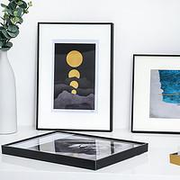 简约创意铝合金装饰装裱画框外框挂墙相框定制海报框摆台任意尺寸