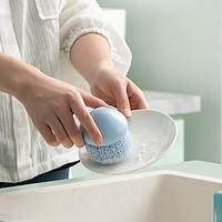 川岛屋钢丝球清洁球家用厨房洗碗洗锅铁丝球不掉丝带手柄刷锅神器