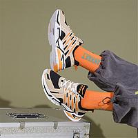运动鞋男时尚弹力织带缓震轻便男款跑步鞋运动跑鞋