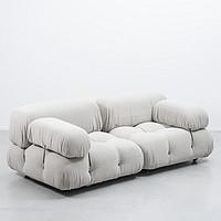 布艺双人沙发组合北欧客厅侘寂风ins中古沙发卧室小模块单人椅双人位其他