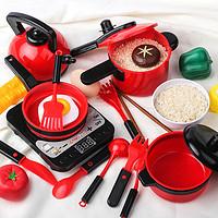 儿童过家家厨房玩具套装宝宝小女孩煮饭锅男孩女童做饭仿真厨具全