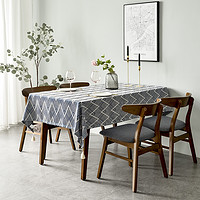 日式桌布布艺棉麻文艺餐桌布北欧简约高档茶几桌旗长方形书桌台布