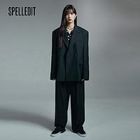 SPELLEDIT2021早秋新款男友风西装外套女设计感小众ins休闲韩版