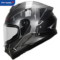 RYMICR977银灰TTRL3C认证摩托车头盔男女全盔冬季保暖四季通用个性机车酷跑盔