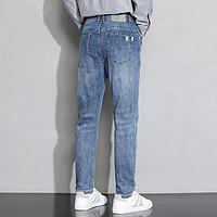 【抗皱耐磨】新款时尚棉质面料舒适亲肤休闲百搭男士牛仔裤