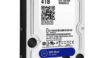 转速只有5400RPM:WD 西部数据 推出 4TB蓝盘 SSHD混合硬盘