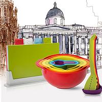 厨神的厨房 篇二十二:英国 JOSEPH JOSEPH 经典彩虹烹饪三件套礼盒装开箱+用途简介