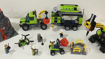 #本站首晒# Lego 乐高 City城市系列 60124 火山探险基地
