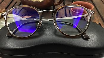 #原创新人# Zeiss 蔡司 数码型钻立方防蓝光膜镜片+Ray·Ban 雷朋 眼镜架RB7073 网购入手心得