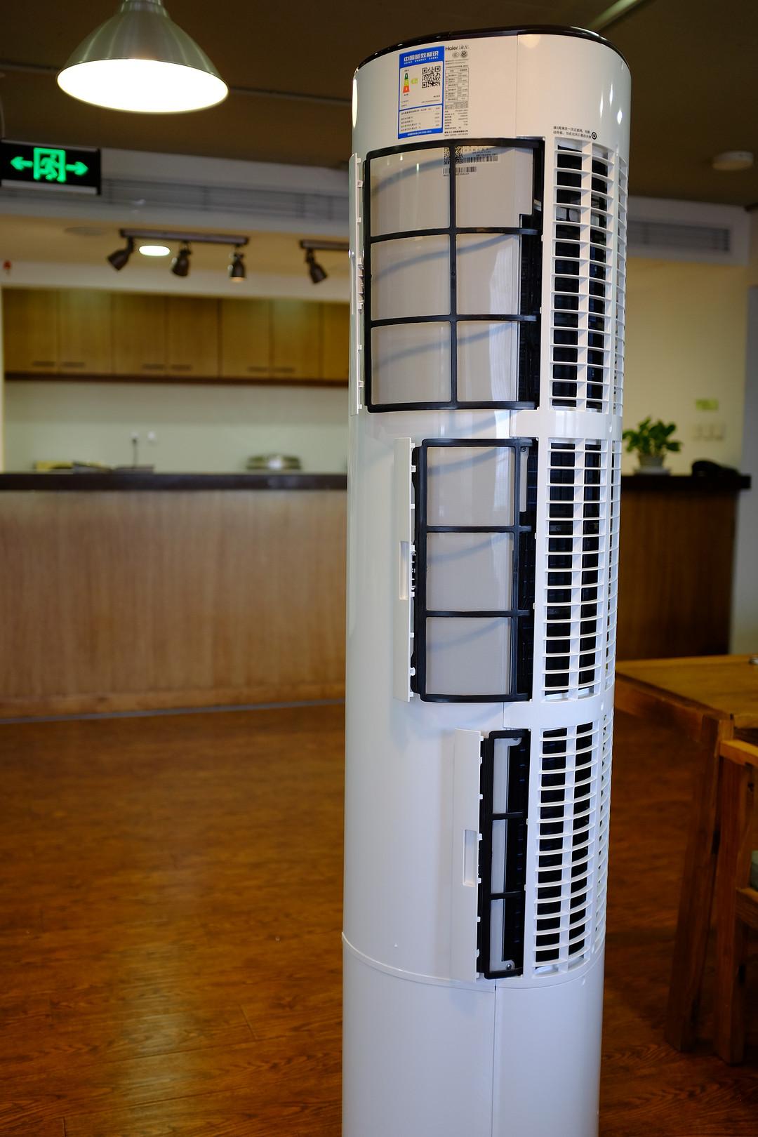 《到站秀》第93弹:Haier 海尔 KFR-72LW/09UCP22AU1 3匹 变频 智能圆柱立柜式空调