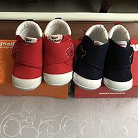 mikihouse经典一段学步鞋与hot biscuits同款对比