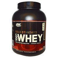 Optimum Nutrition, 100% 乳清蛋白,黄金标准,浓郁巧克力味,5 磅(2.27 千克)