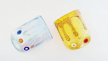 #本站首晒#我就喜欢你色!意大利 ZECCHIN 水滴系列穆拉诺手工吹塑玻璃杯