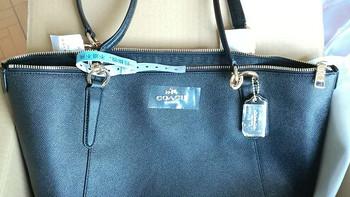 我又给我妈买了一个包:COACH 蔻驰 黑色皮质手提单肩包