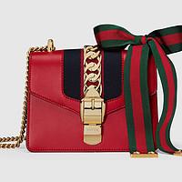 #本站首晒# 送自己的23岁生日礼物:GUCCI 古驰 Sylvie Mini 女士时尚真皮手袋