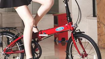 #原创新人#轻松秒杀共享单车  Ford福特折叠自行车20寸KAA072开箱和使用体验