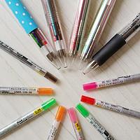 文具控杂七杂八收藏 篇二:五颜六色中性笔