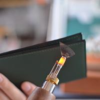 分享一个墨绿色法羊简款长夹的制作过程