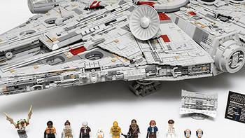 #首晒#千年情怀:LEGO 乐高 星球大战终极收藏家系列 75192 千年隼