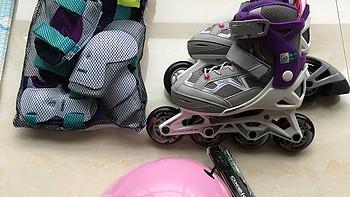 十一国庆去购物之:DECATHLON 迪卡侬 儿童轮滑套装 开箱