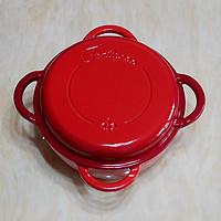 #本站首晒#厨房里的小红花一朵:Staub Fontignac 二合一多用珐琅铸铁锅