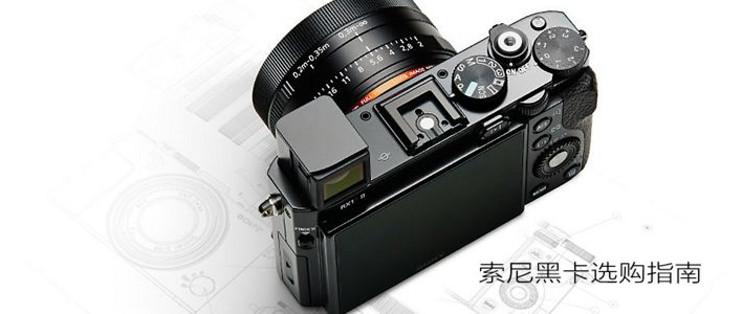 索尼大法好篇七:#年货大作战#SONY 索尼黑卡相机选购指南_什么值得买