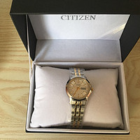 Citizen 西铁城 EQ0608-55A 女士石英腕表 开箱