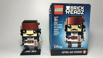 #全民分享季#萌萌的大头:LEGO 乐高 拼拼乐 41593 杰克船长 开箱
