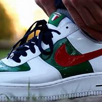 #全民分享季#头上需要带点绿—Nike 耐克 Air Force1 Premium Mexico 篮球鞋晒单