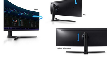 32:9超宽比、144Hz刷新率:SAMSUNG 三星 发布 C49J89 曲面显示器
