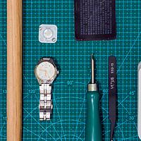 享受DIY的乐趣 篇四:全程GIF—CASIO 卡西欧 LTP-2064A-7A3V 女款石英表电池二次换新小记
